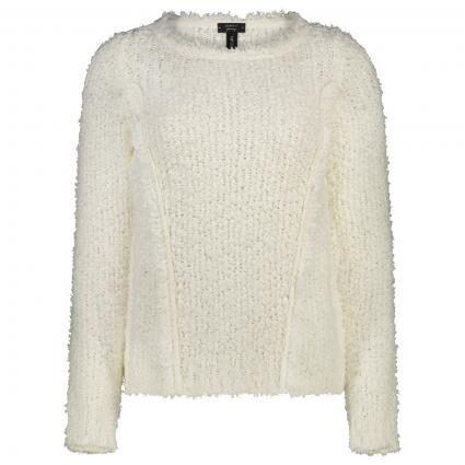 Pullover mit Fransen-Details weiss (110 off-white) | 36