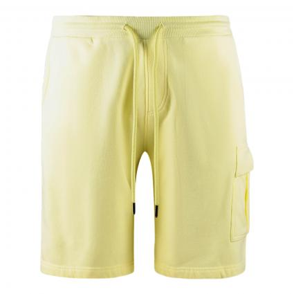 Sweatshorts mit aufgesetzter Tasche gelb (307 yellow)   M