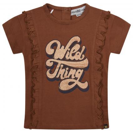 T-Shirt mit Glitzer-Print  camel (Camel) | 86