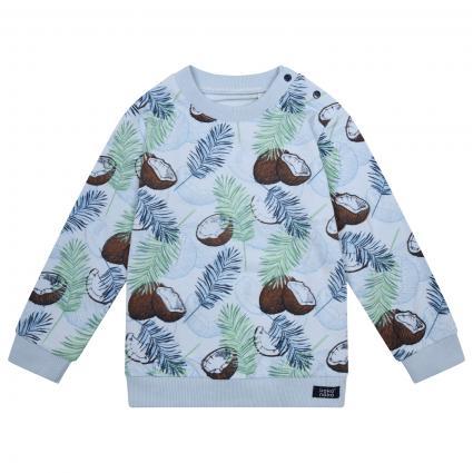 Sweatshirt mit All-Over Muster  blau (Light blue) | 74