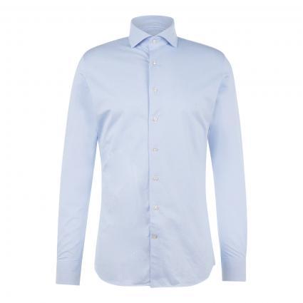 Slim-Fit Hemd mit filigranem Muster blau (blue) | 39