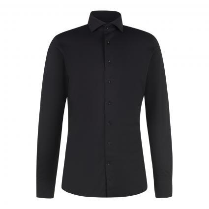 Slim-Fit Hemd aus Baumwoll-Mix schwarz (black) | 38