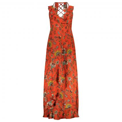Kleid mit floralem All-Over Muster rot (PEKIN RED) | XL