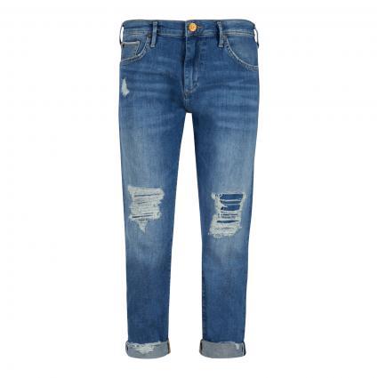 Boyfriend-Jeans 'Liv' mit Destroyed-Details blau (4646 BLUE DENIM) | 28