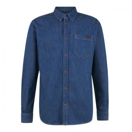 Jeanshemd 'Albert' blau (mid worn) | XL