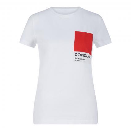 T-Shirt mit Label-Print weiss (000)   S