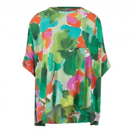 Blusen-Shirt mit All-Over Muster grün (COMBO2 ALHAMBRA Z2AL) | 36