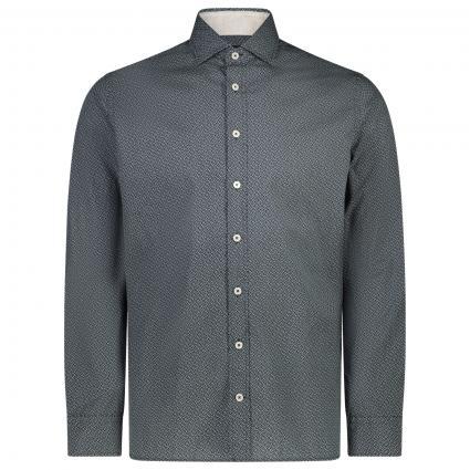 Slim-Fit Hemd mit spannendem All-Over Muster  marine (5DJNAVY/WH) | XXL