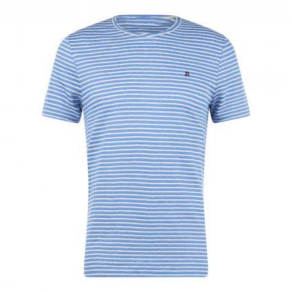 T-Shirt mit Streifenmuster blau (000Z blue stripe)   S