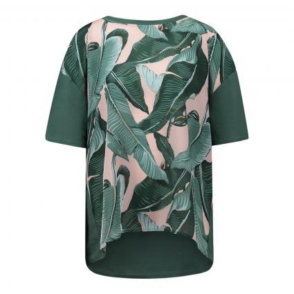 T-Shirt 'Ariete' mit Blumenmuster grün (002 tanne) | XS