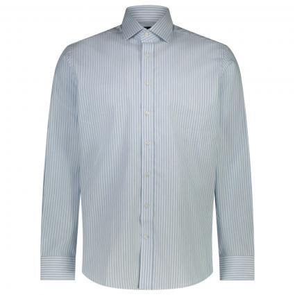 Slim-Fit Hemd mit All-Over Streifenmuster  blau (5BMSKY/WHITE) | 42