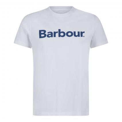 T-Shirt mit Logo-Print weiss (WH51 white) | S