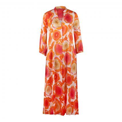 Tunika-Kleid mit All-Over Druck orange (195 orange) | 38