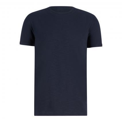 T-Shirt 'Linaro' mit Leinen-Anteil marine (405 Navy) | XXL