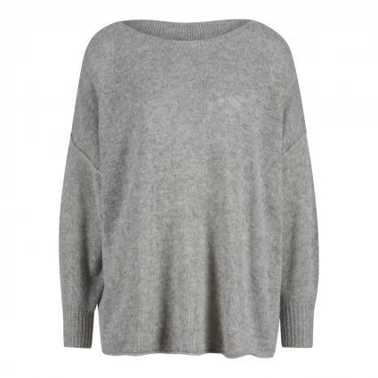 Oversize Pullover mit U-Boot Ausschnitt grau (GRIS CHINE) | M/L