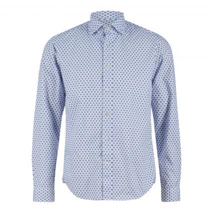 Shaped-Fit Hemd mit All-Over Druck blau (68 Indigo) | 44