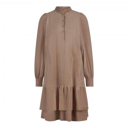 Kleid mit Volantsaum braun (627 kangaroo) | 42