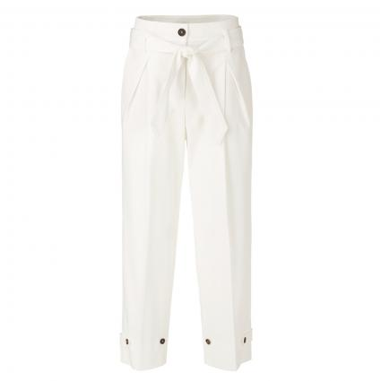 Weite Hose mit Bundfalte weiss (110 off-white) | 38