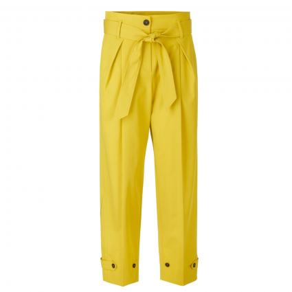 Weite Hose mit Bundfalte gelb (433 corn) | 38