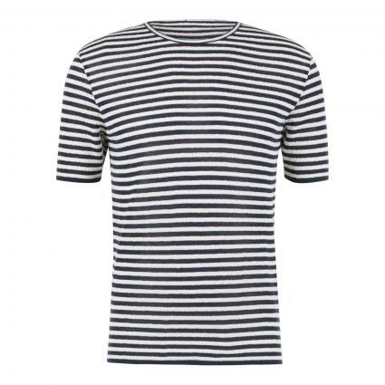 T-Shirt mit Streifenmuster marine (99 navy)   M