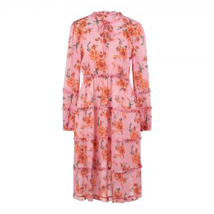 Kleid mit Blumenmuster pink (010 PINK) | L