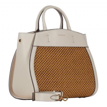Handtasche 'Concrete Paglia Rete'  beige (956 CARAMEL/LAMB.W.) | 0