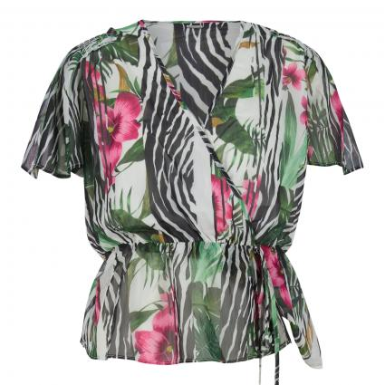 Blusenshirt 'Nerea' mit All-Over Druck grün (P16N TROPICAL SPLIT ) | M
