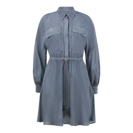 Kleid mit Taillengürtel marine (890) | 40