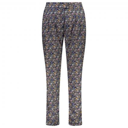 Hose mit floralem All-Over Muster  blau (WILDFLOWERS B) | L