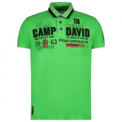 Sportliches Poloshirt mit Label-Stickerei  grün (GRE 0274) | XXL