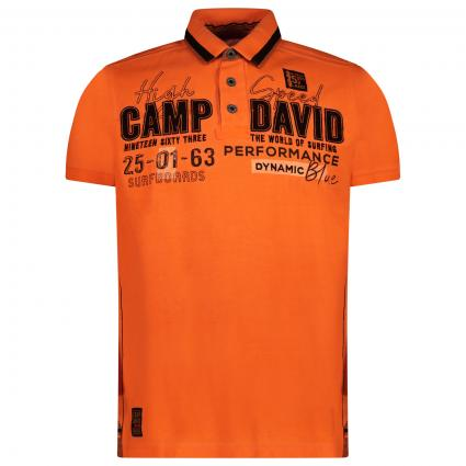 Sportliches Poloshirt mit Label-Stickerei  orange (ORA 0118) | S