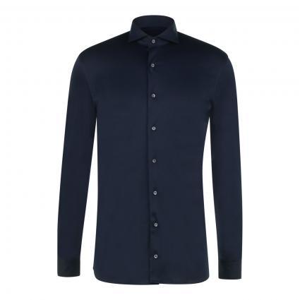 Slim-Fit Hemd aus softer Jerseyware marine (790)   L