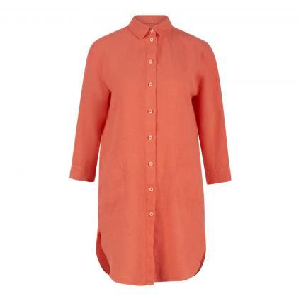Lange Leinenbluse mit seitlichen Taschen orange (10303 orange)   40