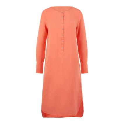 Leinenkleid mit Knopfleiste orange (10303 orange) | 44