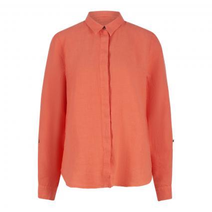 Leinenbluse mit sportiven Details orange (10303 orange)   46