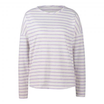 Langarmshirt mit Streifenmuster flieder (511 lavender stripes) | XL