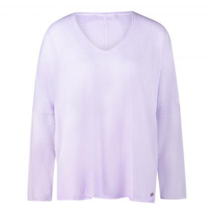 Pullover mit V-Ausschnitt flieder (511 lavender) | XL