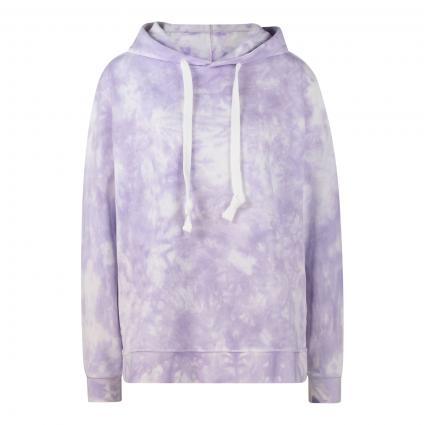 Sweatshirt in Batik-Optik flieder (1511 lavender print) | M