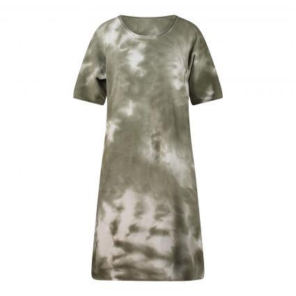Sweatshirt-Kleid in Batik-Optik oliv (1910 mud print) | XXL