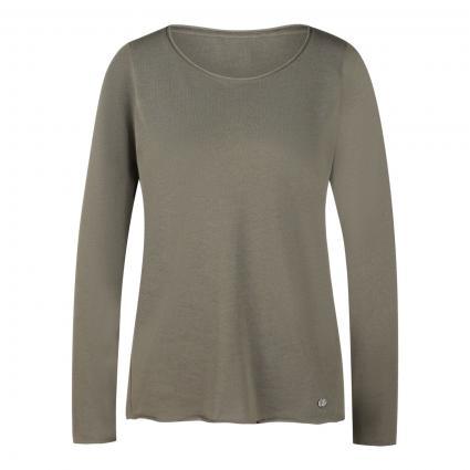 Pullover mit Rundhalsausschnitt oliv (910 mud) | L