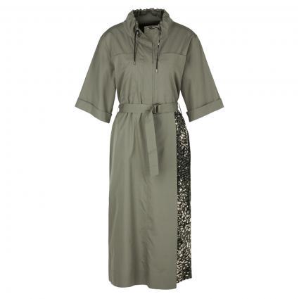Kleid mit Bindegürtel grün (592 forest night) | 44