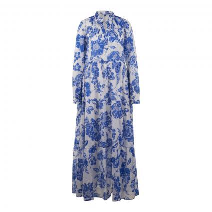 Maxikleid 'Milly Long' blau (0001 weiß royal) | XL