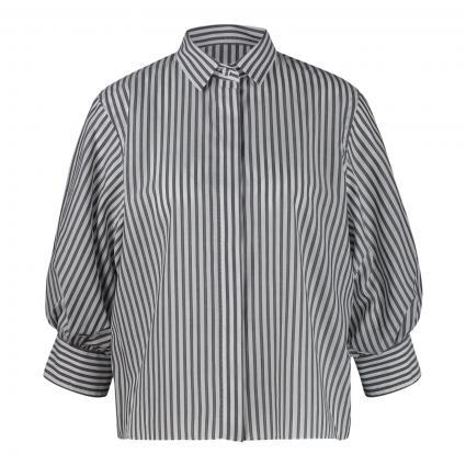 Bluse mit Ballonärmel und Streifenmuster grau (RY1 grau weiß) | 34