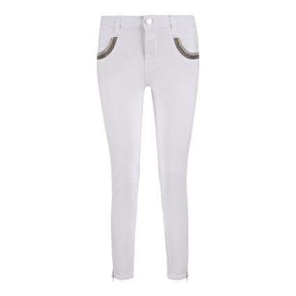Cropped Jeans 'Naomi' weiss (101 WHITE) | 28
