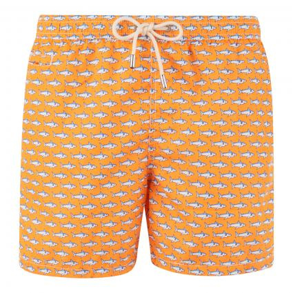 Badeshorts 'Lighting Cloned Shark' orange (85 neon orange) | XXL