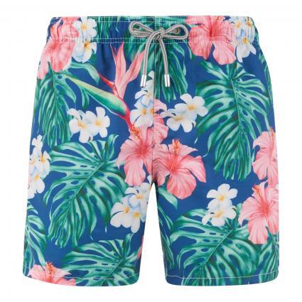 Badeshorts 'Gustavia Flower Maui' marine (61 navy/pink )   L