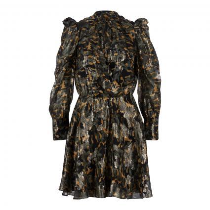 Kleid mit V-Ausschnitt oliv (XF80 CAMOU PRINT)   40