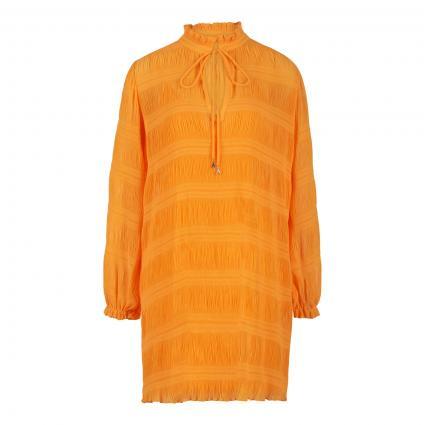 Kleid mit Plisseefalten orange (R713 MANGO)   40