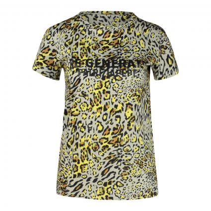 T-Shirt 'Maglia'  gelb (F564 YELLOW ANIMALIE) | L