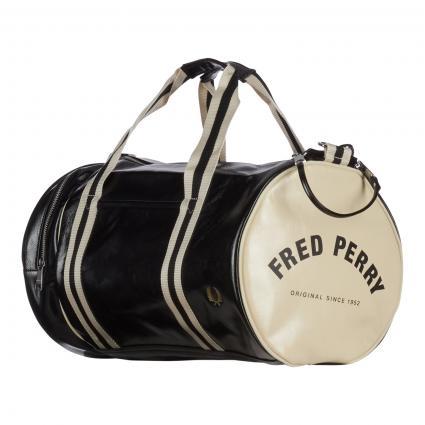 Sporttasche 'Barrel Bag' mit Logo Druck schwarz (D57 black ecru) | 0